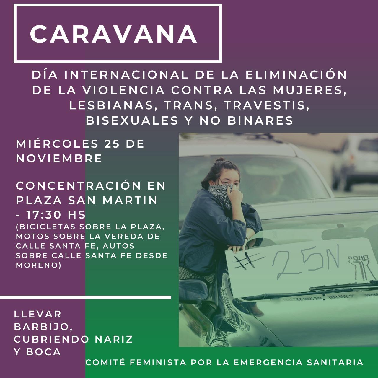 Caravana y ruidazo por el 25N