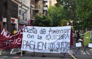 Fuerte protesta de Empleados de Comercio por la situación del call center de Hey Latam