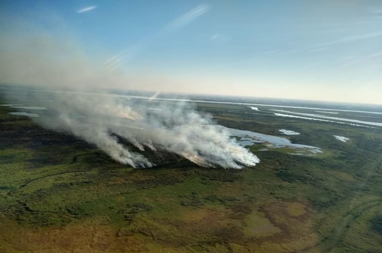 La provincia continúa trabajando para combatir los incendios en la zona de las islas del Delta.