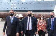 Alberto Fernández y Agustín Rossi pusieron en marcha el Fondo para la defensa